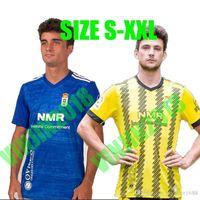 20 21 Real Oviedo Soccer Tebacer Blanco Leschuk Tejera Nahuel 2020 2021 Camisetas de Fútbol Diegui Rodri Borja Sánchez Футбольная форма