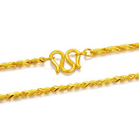Chains 17INCH ARRIVAL PURE 24K YELLOW GOLD NECKLACE CHAIN MEN'S FISH 8.6G