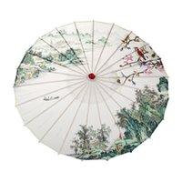 Yaratıcı Baskı Dans Şemsiye Kiraz Çiçekleri Ipek Şemsiye Su Geçirmez Dekoratif Fotoğraf Prop Şemsiye Zanaat Düğün Hediyesi 19SS H1