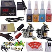 Suministros de tatuaje Kit de maquinaria de maquillaje permanente barato Tatuaje Equipo de tatuaje profesional China 2 armas