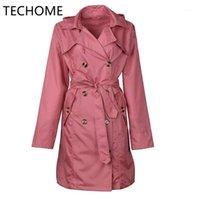Jaqueta de chuva com capuz feminino techome impermeável casaco longo windbreaker chuva ao ar livre caminhadas de luz de peso leve1