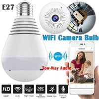 1080p WIFI Lámpara de cámara 360 Seguridad Bombilla panorámica CCTV Video Video Video Cámara IP Eye Eye Night Vision Dos vías Audio