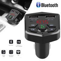 Kit de coches Handshree Wireless Bluetooth FM Transmisor LCD Player MP3 Player USB Cargador 2.1A Accesorios para automóviles HandsFree1