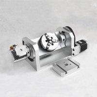 DIY CNC 5º eixo rotativo do 4º eixo com Chuck com mesa para CNC 3020 3040 6040 roteador de madeira gravação máquina de fresagem