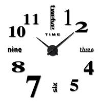 Moda na cidade relógio DIY personalidade 3d relógio de parede moderno design quarto sala decorativa arte criativa