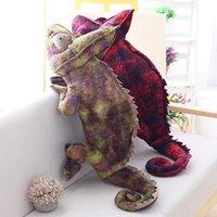 Großhandel Simulation Eidechse Chameleon Monster Puppe Plüsch Spielzeug Kissenfüllte Spielzeug mit Stofftieren Kinder Spielzeug