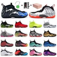 nike air foamposite One penny hardaway Top Quality Sapatos de basquete de um dos homens Preto Aurora Crimson DoernBecher Vermelho Treinadores Sneakers