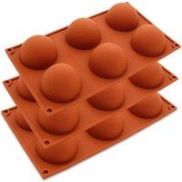 6 buracos molde de silicone para o bolo de chocolate geléia pudim sabão artesanal redondo forma meio esfera molde non vara cupcake moldes CCA12659