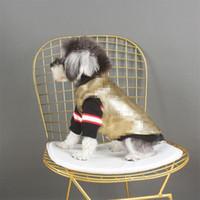 Carta de moda impresa mascotas Abrigo Trendy Shinning Lentejuelas de peluche Chaquetas de peluche Personalidad Schnauzer Chalecos Ropa