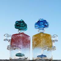 최신 5mm 두께 봉 앞뒤를 헤아 리지 유리 기억 만 가진 샤워기 퍼크 Percolators 다채로운 흡연 유리 물 파이프 클라우드는 14.5mm 여성 공동 모양