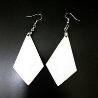 Orecchini di sublimazione Blank Blank Ciondoli Bianco Drop Dangler Dangler Foglia Manuale manuale per il giorno di San Valentino Regali YYS3268