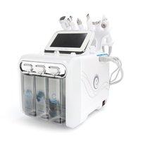 6 en 1 H2O2 Hydrogène et oxygène Hydra Hydra Hydradermabrasion Aqua Sacial Pelcurbonnier Doll Blackhead Machine à vide 2020