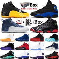 Université Jumpman or Hot punch CNY Flint 12 12s Hommes chaussures de basket-ball de chat noir 13 13s Chicago Bred Taxi DMP Hommes Sport Chaussures Designer