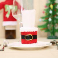 Fenkicyen Christmas Towel Case Santa Belt Roll Paper Holder Xmas Table Paper Tissue Napkin Rings Tableware Navidad Napk qylpvr