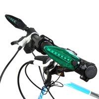 1 쌍 자전거 사이클 경고 핸들 바 그립 자전거 핸들 바 LED 라이트 방수 자전거 라이트 램프