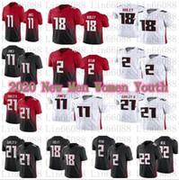 2021 Football hommes 2 Matt Ryan 21 Todd Gurley II 11 Julio Jones 18 Ridley 22 Keanu Néal Femmes Jersey Jersey