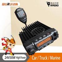 Walkie Talkie 1PC اتجاهين محطة الراديو التواصل 50W المهنية لمسافات طويلة 50KM UHF / VHF الراديو السيارات المحمول