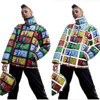 여성 플러스 사이즈 다운 파카 가을 겨울 옷 따뜻한 코트 두꺼운 카디건 옷깃 목 셔츠 지퍼 후드 딥 염료 겉옷 체육관 0740