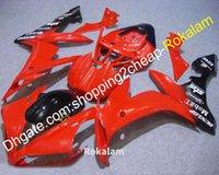 Kit de carenado corporal de moto para Yamaha 2004 2005 2006 YZF R1 YZF-R1 YZFR1 04 05 06 Faules negros rojos (moldeo por inyección)