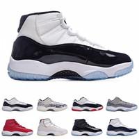 Hommes Gamma 11 Chaussures de basketball Femmes 11s Espace 72-11 Jam Rose Concord Gym Gym Rouge Émeraude Cool Grey Gris Métallique Métallique Silver Bread Sneakers