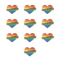Gay Pride Heart Rainbow Flag Bandiera Spille di risvolto Pin LGBT Pin Love Is Love Smalto Pin per le donne Uomo Accessori per gioielli regalo
