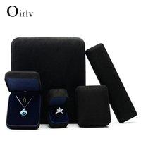 Malas de jóias, sacos Oirlv preto camurça azul cetim metal anel de casamento caixas colar pulseira display armazenamento pulseira caixa de presente pulseira