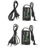 EU 미국 홈 벽 충전기 전원 공급 장치 코드 케이블 AC 어댑터 소니 PSP 1000 2000 3000 슬림 소매 상자