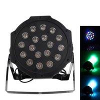 24 W 18-RGB LED Oto / Ses Kontrolü DMX512 Yüksek Parlaklık Mini Sahne Lambası (AC 100-240 V) Siyah * 2 Hareketli Kafa Işıkları Toptan