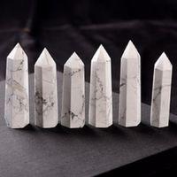 Natural Bianco Turchese Torre di quarzo al quarzo al quarzo Punto di quarzo Bianco Crystal Stone Obelisk Wand Guarigione Arti di cristallo e artigianato