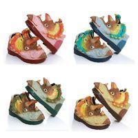 2020 Creative 3D динозавра обувь ботинки малышей новорожденных девочек мальчики среднего детские спортивные сохранить теплый мягкий удобный размер 25-30 Стилем 2