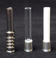 Consejos de cuarzo de cerámica de titanio de rosca de titanio para kit de colector de néctar Micro Mini Tubería de vidrio V4 Kit GR2 Titanio Clavo