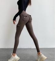 2021 Chaud Peach Personnalisé Pantalon de remise en forme Pantalon Haute Taille Femme Couleur Couleur des pantalons de survêtement d'automne Pêche Pantalons de Yoga Nu Pantalon Femme