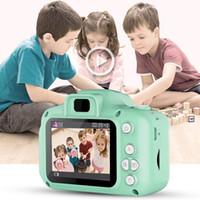 X2 الأطفال مصغرة كاميرا أطفال ألعاب تعليمية للأطفال هدايا هدية عيد ميلاد الكاميرا الرقمية 1080P الإسقاط فيديو كاميرا اطلاق النار