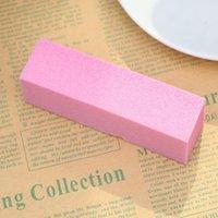 5 pçs / set rosa esponja arroto buffing buffer bloco manicure polonês lixar manicure nail art dicas diy unhas arte sa qylkae