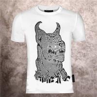 2021 남자의 PP 악마 몬스터 뜨거운 드릴 유럽과 미국 동향 여름 필립 일반 반 슬리브 패션 짧은 소매 티셔츠