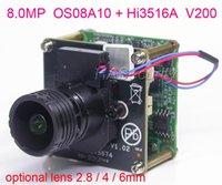 "8.0MP (4K / 2K) H.265 IPC 1 / 1.8 ""Omnivision OS08A10 CMOS Sensor HI3516A V200 IP CCTV كاميرا PCB مجلس الوحدة + LAN كابل + M16 عدسة"