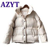 Azyt Kadınlar Boy 4xxl Kış Ceket Kalınlaşmak Sıcak Pamuk Aşağı Parka Ceket Rahat Streetwear Aşağı Ceket Kadınlar için 201118