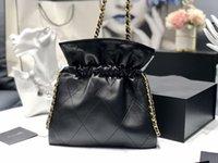 Luxurys Ledertaschen 2020 Qualität Kordelzug Winter Herbst Models Tasche Leder Handtaschen Show Schulter Hohe Handtaschen 2c Neueste Designer IVGL
