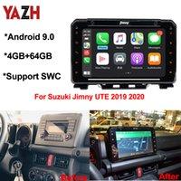 Yazh 4GB 64GB Android 9.0 Auto Radio GPS Navigation pour Suzuki Jimny Ute 2019 2020 DVD DVD Stéréo avec Bluetooth 5.0 DSP Multimédia
