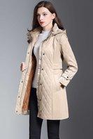جديد 2020 النساء أزياء إنجلترا البريطانية طويلة القطن القطن مبطن معطف جودة عالية يتأهل الشتاء لندن خندق معاطف للنساء حجم S-XXL
