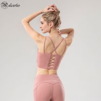 2021 tintas de ombro fina cruz belas costas esportes underwear yoga roupas mulheres novo retrato de aptidão sutiã pequeno sling pequeno