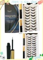 New arrival explosion models 10 pairs of false eyelashes fitted suit magnetic magnet magnetic Eyeliner eyelashes suit