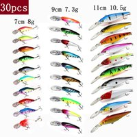 Tuya Fishing Set Wobblers Рыболовные приманки Набор Minnow Trolling Искусственная приманка Bionic Fish Big Wobbles Deep Water Bongbill Hard Lure 201030