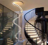 Спиральные художественные современные светодиодные лампы люстры декор для украшения дома рестораны для украшения дома столовая гостиная потолочная лампа крытый свет лофт