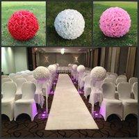 """20 """"50 cm Süper Büyük Boy Beyaz Yapay Gül Ipek Çiçek Düğün Parti Centerpieces Süslemeleri için Topları Öpüşme Malzemeleri"""