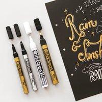 Kalıcı Marker Metalik Marker Kalemler Gümüş Altın Taban Cam Kumaş CD Lastik Çelik Markerler Boya Pen Kawaii Karalama Defteri İşaretleyiciler