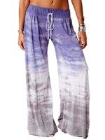 Kadın Gevşek Degrade Baskılı Yoga Geniş Bacak Spor Pantolon Giyim Kadın Tasarımcılar Giysileri 2020 Ev Pijama 7 Renk Yeni CZ1214A