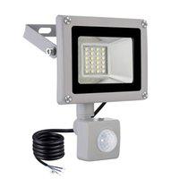 미국 주식 모션 센서 LED 투광 조명 20W IP65 방수 야외 벽 램프 황혼 차고에 대 한 새벽 문 조명