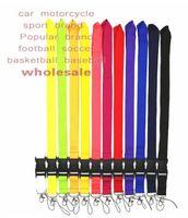 2020 جديد 100 قطع الرياضة الملابس شعار حزام الحبل الهوية شارة سلسلة المفاتيح حامل الرقبة حزام انفصال متعدد الألوان