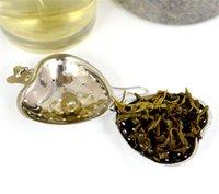 Folha de chá Infusor Infusor Aço Inoxidável Tea Coador Reusável Coração Forma Chá Infuser Presente Casamento Cozinha Ferramentas EEF4896